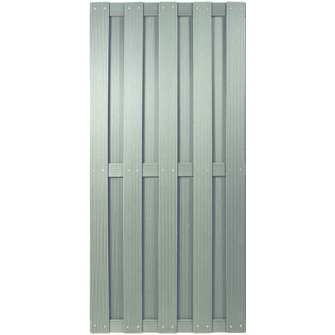 T&J SHANGHAI-Serie silbergrau 90 x 180 cm, WPC-Bretterzaun 1010467
