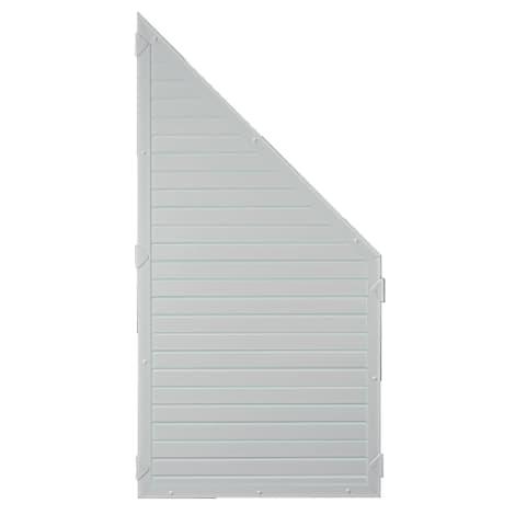 T&J LIGHTLINE KS-Zaunelement ECKE 90 x 180/90 cm Füllung / Rahmen SILBERGRAU 1010500