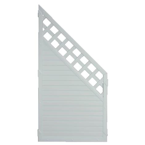 T&J LIGHTLINE KS-Zaun Ranki ECKE 90 x 180/90 cm Füllung / Rahmen SILBERGRAU 1010505