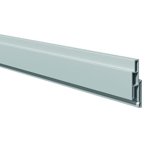 T&J LIGHTLINE Steckzaunsystem  Dekorleiste silbergrau 17 x 25 mm, Länge 180 cm 1010536