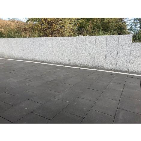 Panther Garden & Living - Granit Rand-/Leistensteine Vicenza hellgrau gesägt, geflammt mit Fase 1063575
