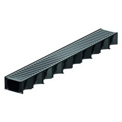 ACO HexaLine 2.0 Rinne 1 m Stegrost Stahl verz.  1044357