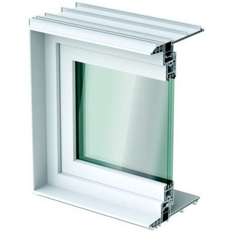 ACO Therm Leibungsfenster 24 cm tief 3-Fach Verglasung 1043153