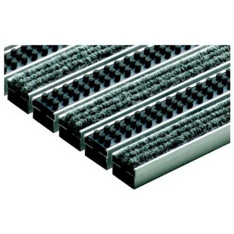 ACO Vario Schuhabstreifermatte 60x40 Rips hellgrau/Cassetten 1044440