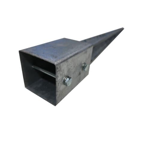 Einschlagbodenhülse 71 x 71 x 750 mm mit Schrauben 1002489