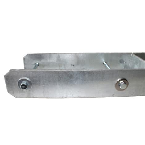 H-Pfostenträger 91 x 600 x 5,0 mm mit Schrauben 1002109
