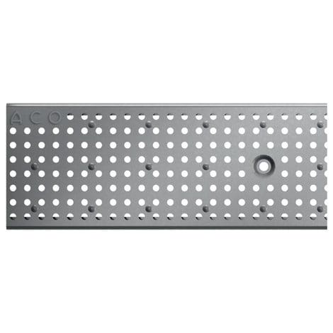 ACO Profiline 1,0m Lochrost Edelstahl für Baubreite 13 cm 1004365