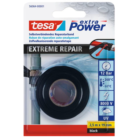 tesa® Extreme Repair Reparaturband, schwarz, 2,5m 1122814