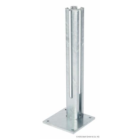 Fussplatte 200 x 200 x 610 mm zink 1063991