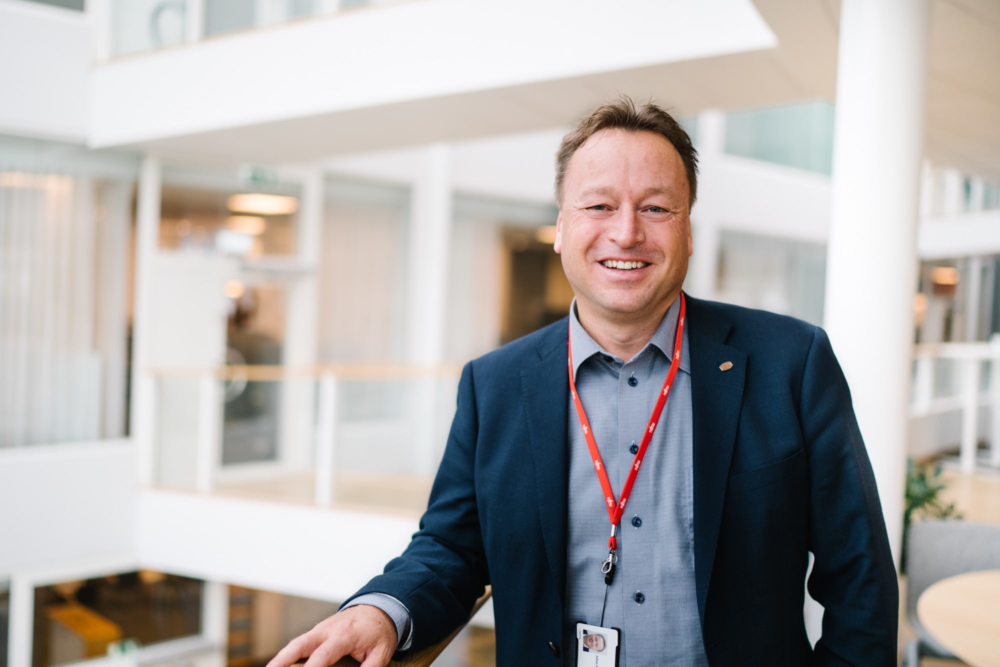 Fujitsu's Site Manager Johan Kilenius in Gothenburg