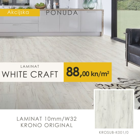 Laminat akcija hrast White Craft