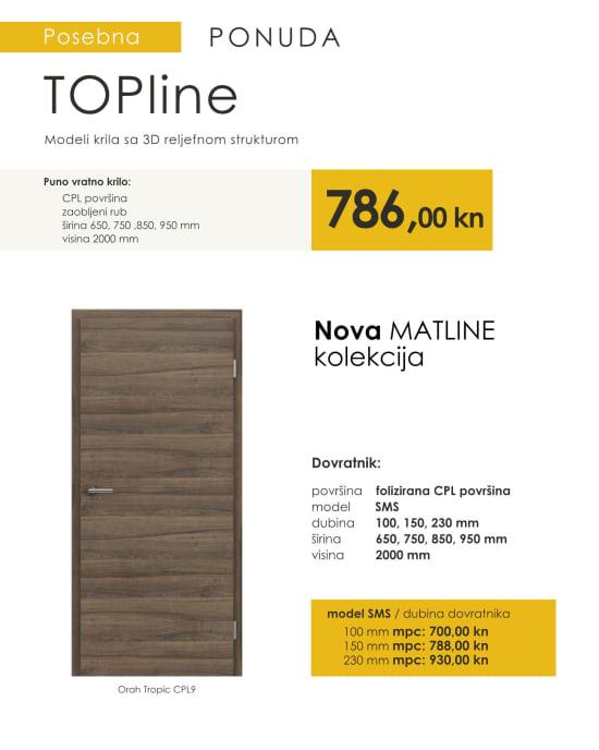 Sobna vrata TOPline MATLINE