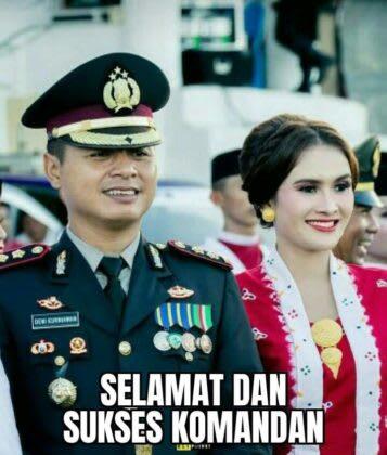 Kapolres Labuhanbatu AKBP Deni Kurniawan didampingi istri