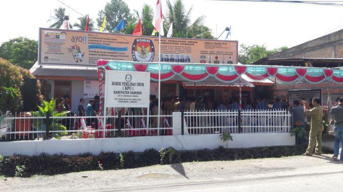 Kantor KPUD Samosir. Foto Istimewa.