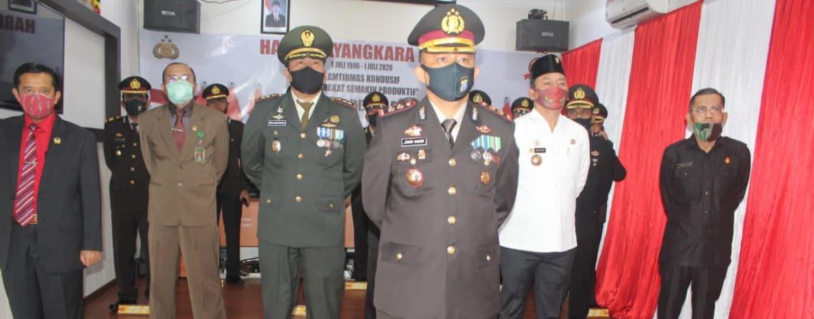 Kapolres Taput pimpin upacara HUT Bhayangkara ke-74 secara virtual