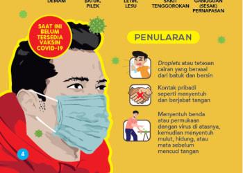 Brosur pencegahan virus corona. Foto: Istimewa