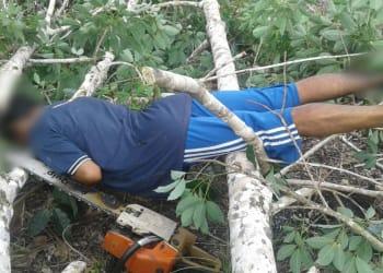 Korban di TKP. (foto: sinarlintas.com)
