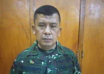 TNI gadungan, bernama Muslianto pangkat Peltu . Foto Istimewa