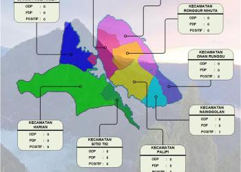 Peta lokasi pasien Covid-19 di Samosir berasal dari Kecamatan Nainggolan