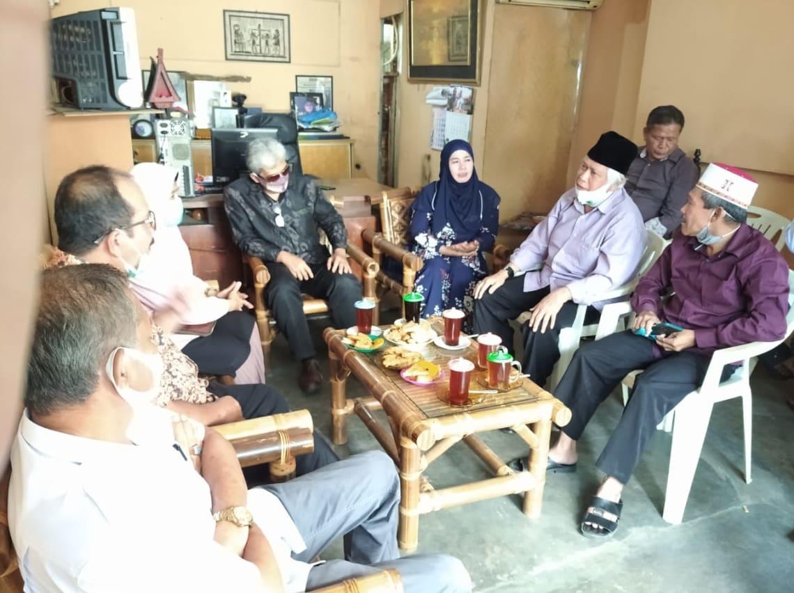 Suasana pertemuan Pasangan Asner-Susanti dengan pengurus PD DMI Kota Pematangsiantar, Rabu 21 Oktober 2020