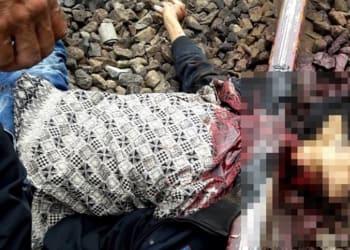 Kondis korban saat di lokasi kejadian. (Foto: Kricom)