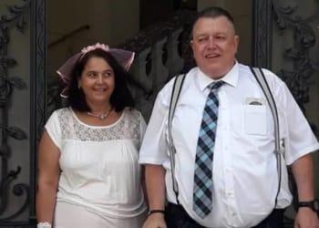 Pasangan pengantin Jerman, Ralph Jankus, 52, dan Christel Jankus, 49. Foto/Facebook