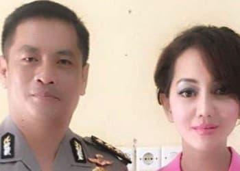 AKBP Yoi Napitupulu bersama istrinya Jaksa Pinangki Sirna Malasari. Foto: Istimewa/wartakota