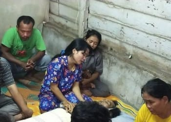 Egwin bunuh ayah kandung di Helvetia Medan. Foto Ist