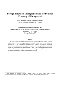 Foreign Interests: Immigration and the Political Economy of Foreign Aid