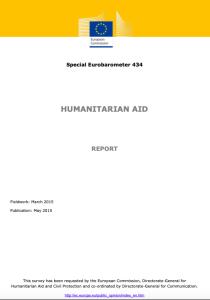 Special Eurobarometer 434: Humanitarian Aid