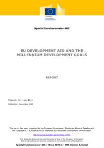 Special Eurobarometer 405: EU Development Aid and the Millennium Development Goals