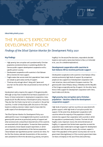 The Public's Expectation of Development Policy