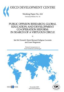 Public Opinion Research, Global Education and Development Cooperation Reform: In Search of a Virtuous Circle