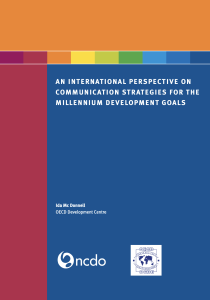 An International Perspective on Communication Strategies for the Millennium Development Goals