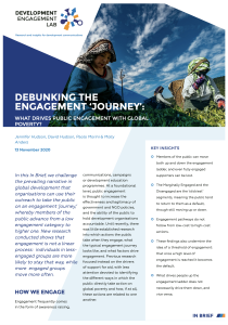 In Brief 6: Debunking the engagement 'journey': What drives public engagement with global poverty?
