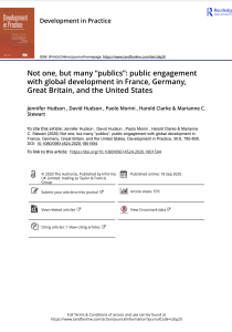 "Not one but many ""publics"": Public engagement with global development in France, Great Britain, Germany & US"