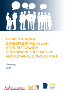 Opinion Monitor Development Policy 2018 – Attitudes Toward Development Cooperation and Sustainable Development