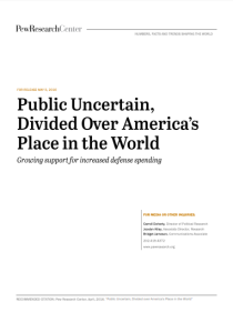 Public Uncertain: Divided Over America's Place in the World