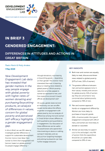 In Brief 3: Gendered Engagement in Great Britain