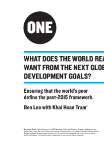 What Does the World Really Want from the Next Global Development Goals?