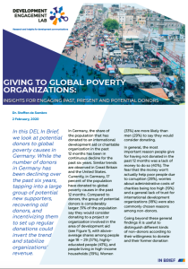 In Brief 2: Giving to Global Poverty Organisations in Germany