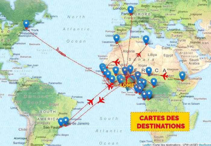 Nos destinations