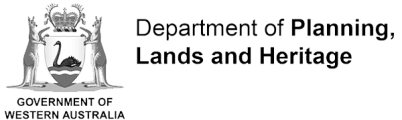 Logo for the Government of Western Australia Department of Planning, Lands and Heritage