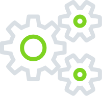Configuration options (cog icons)