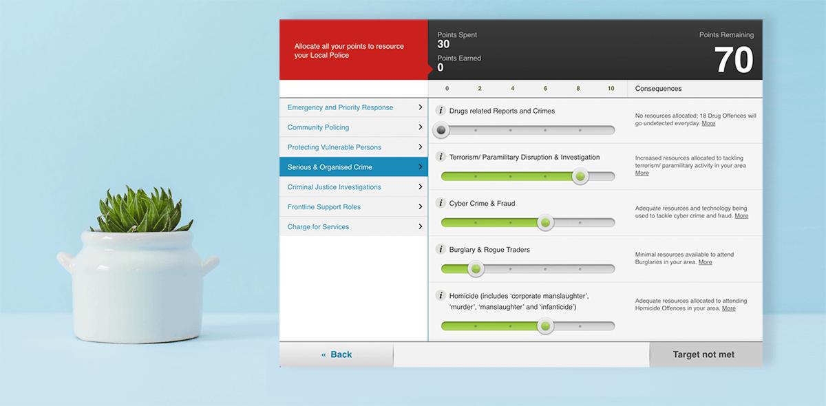 Screenshot of Budget Simulator