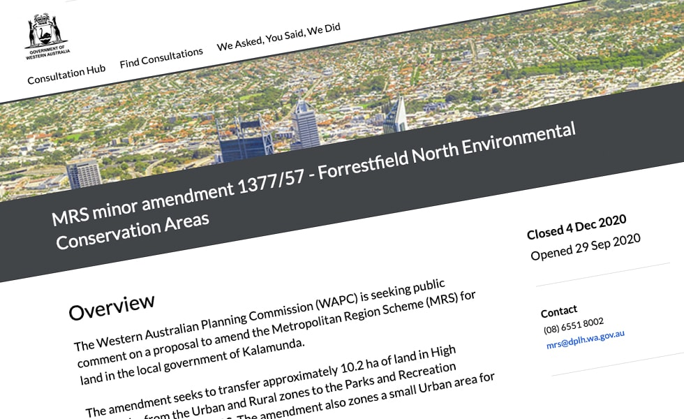 'screenshot of 'Western Australia Department of Planning, Lands and Heritage