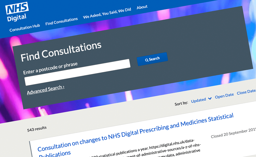 'screenshot of 'NHS Digital, UK