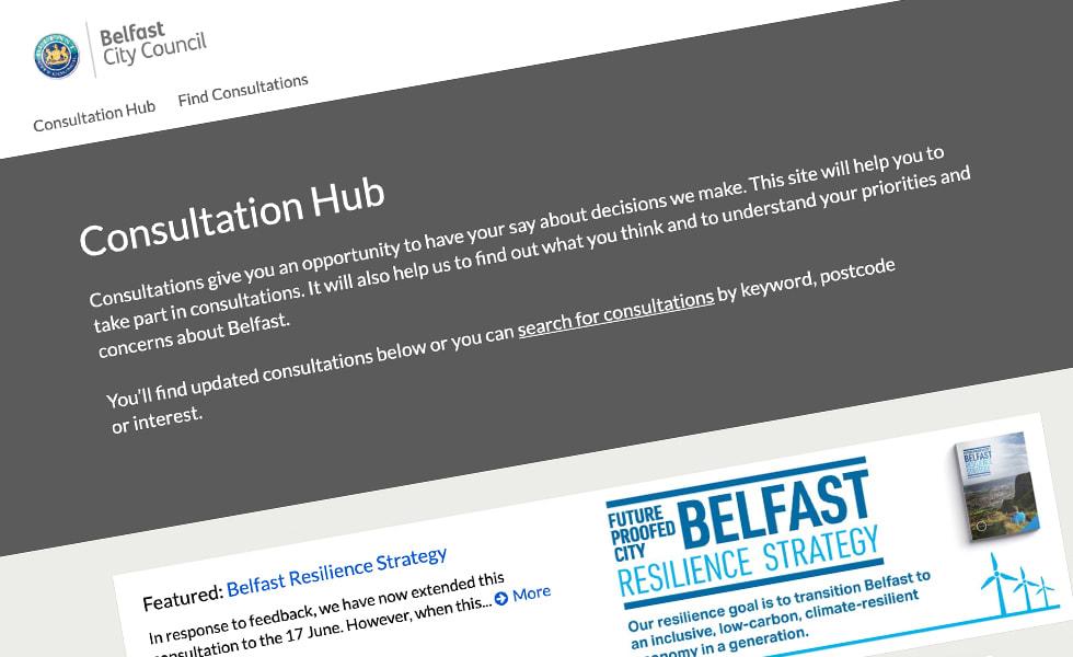 'screenshot of 'Belfast City Council, UK