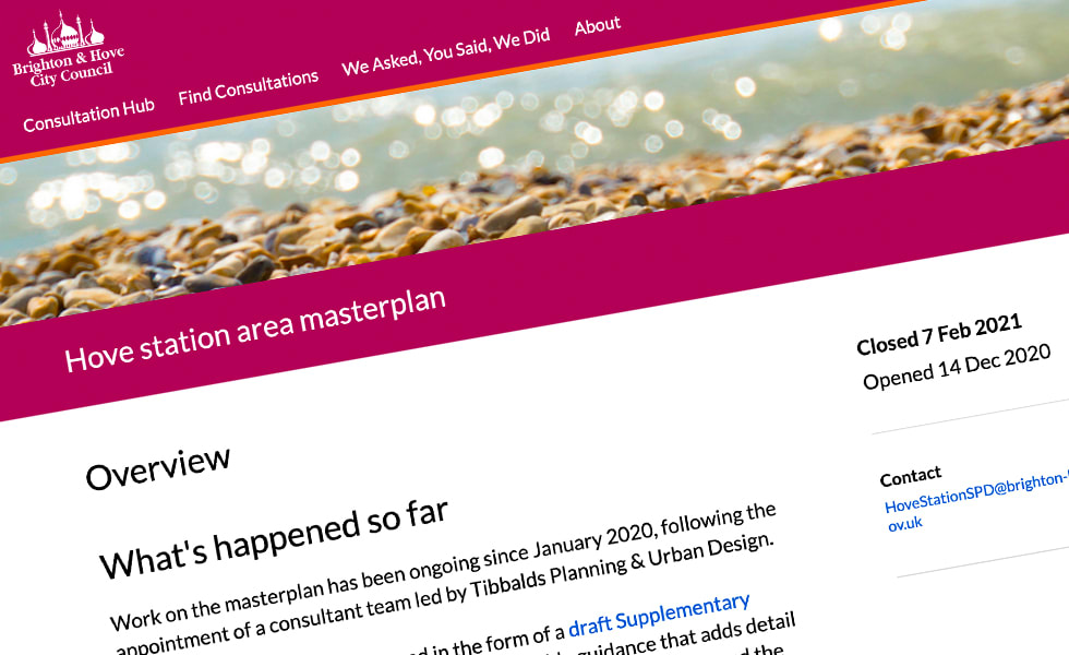 'screenshot of 'Brighton & Hove City Council, UK