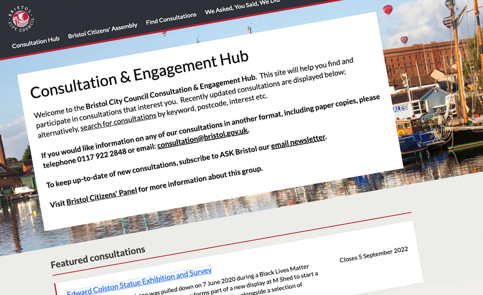 'screenshot of 'Bristol City Council, UK